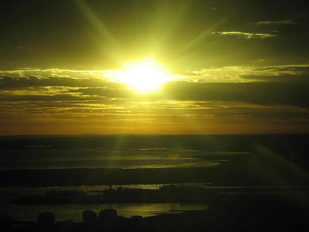 Melbourne sunset by cjwr