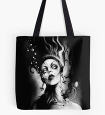 Drowning, Gothic Art by Marcus Jones   Tote Bag