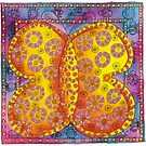 Patterned Butterfly by Julie Nicholls