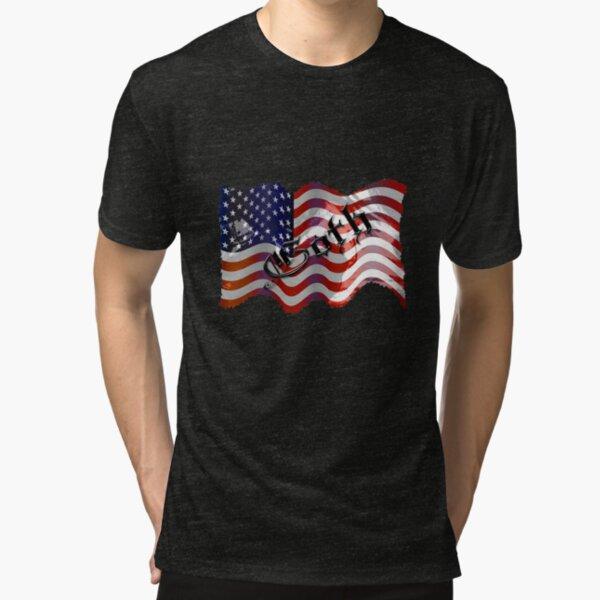 Stars And Stripes ll Tri-blend T-Shirt