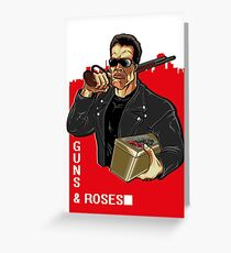 GUNS & ROSES Greeting Card