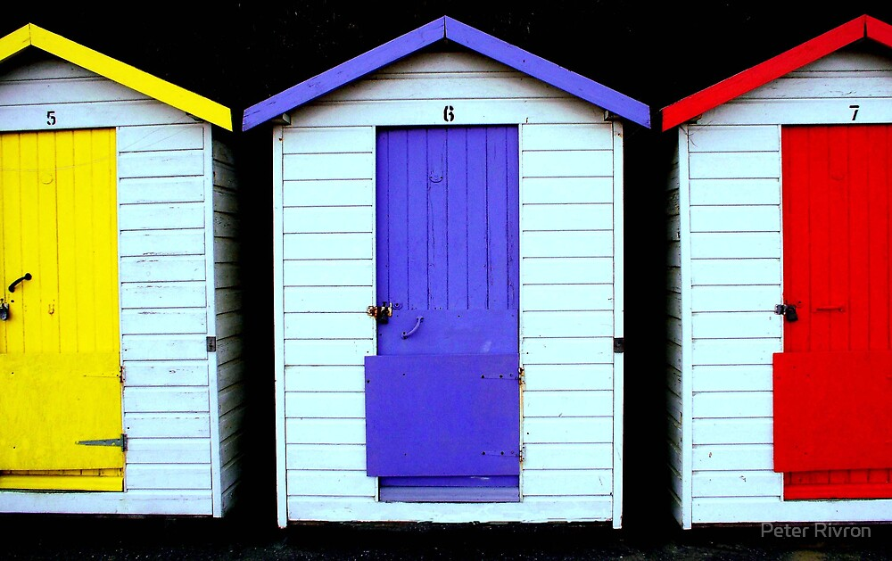 Beach Huts 001 by Peter Rivron