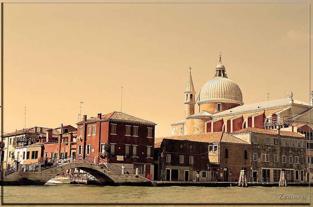 Venetian Evening in Sepia by Zeanana