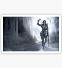 Lara in the Ice Sticker