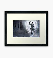Lara in the Ice Framed Print