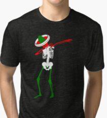 Cinco de Mayo Dab Skeleton Tri-blend T-Shirt