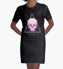 Skull in triangle on black Graphic T-Shirt Dress