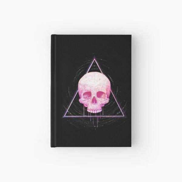 Skull in triangle on black Hardcover Journal