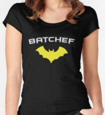 BATCHEF - Super Hero Chef Cook  Women's Fitted Scoop T-Shirt