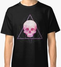 Skull in triangle on black Classic T-Shirt