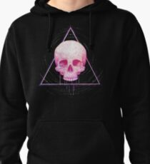 Skull in triangle on black Pullover Hoodie
