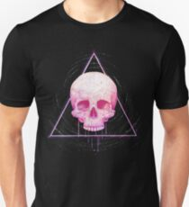 Skull in triangle on black Unisex T-Shirt