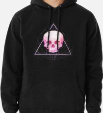 Sudadera con capucha Skull in triangle on black
