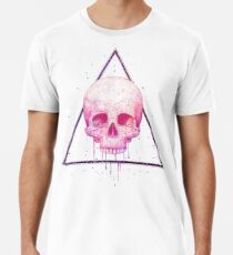 Camiseta premium Skull in triangle on black