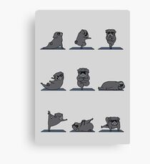 Black Pug Yoga Canvas Print