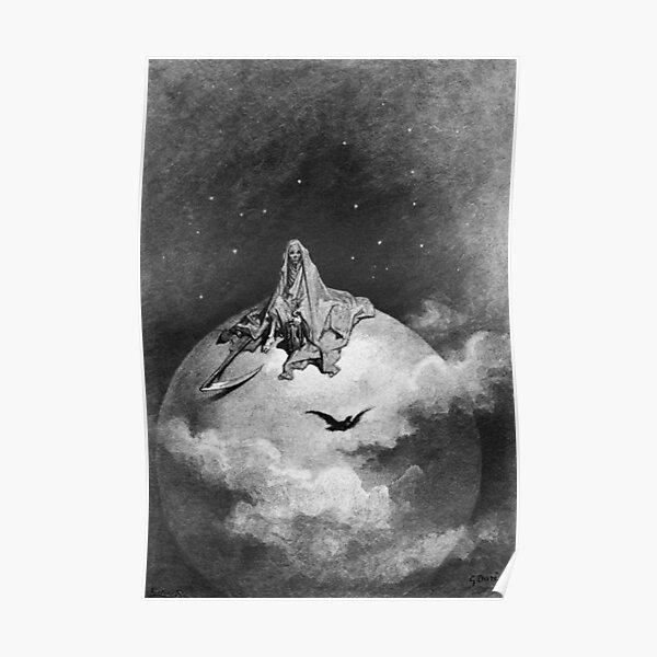 Gustave Dore. 1883, Illustration, Edgar Allan Poe, THE RAVEN. Poster