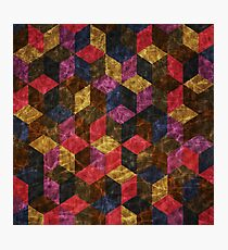 Colorful Isometric Cubes IV Photographic Print