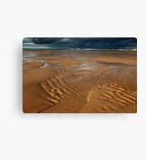 ripples, balmedie beach Canvas Print