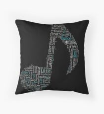 Fall Out Boy Music Note Throw Pillow
