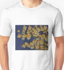 Butterfly Frenzy Spring Navy Unisex T-Shirt