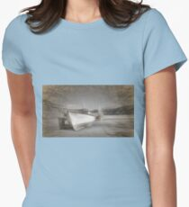 Fishing Boat in Nefyn Harbour Womens Fitted T-Shirt
