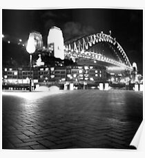 Sydney Harbour Bridge by Night Poster