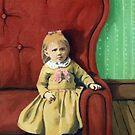 CLARISSA  Little Girl in Big Chair children Fantasy by LindaAppleArt