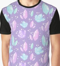 Magical Crystals // Purple Graphic T-Shirt