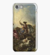 Joseph Parrocel - The Boar Hunt iPhone Case/Skin