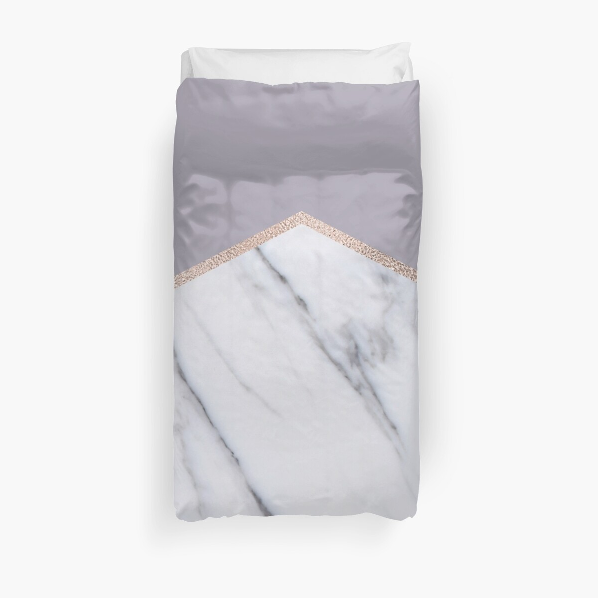 Smokey lilac - rose gold geometric marble by marbleco