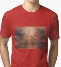 Joseph Mallord William Turner - Vesuvius In Eruption, 1817-20 Tri-blend T-Shirt