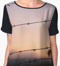 Sunrise Barbed Wire Chiffon Top