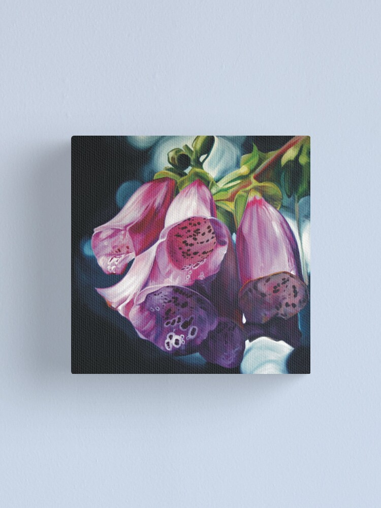 Alternate view of Foxgloves Canvas Print