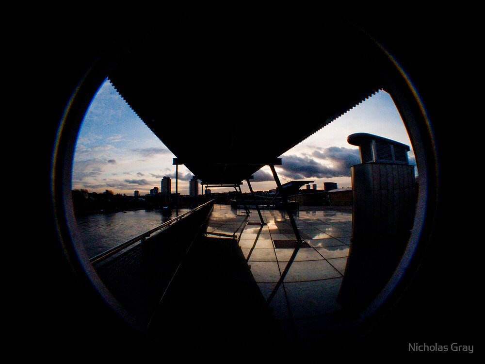 Sunset Over Glass and Architecture by Nicholas Gray