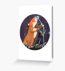 Starry Night and Wild Hamster Greeting Card