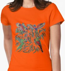 Birds from Paradise. Rosellas Women's Fitted T-Shirt