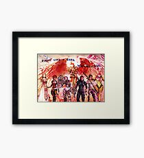 Fight like a girl, Win like a girl! Framed Print