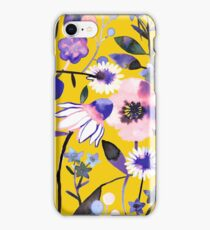 Mustard summer flowers iPhone Case/Skin