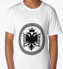 Albania with Crown Long T-Shirt