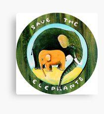 Save the Elephants Canvas Print