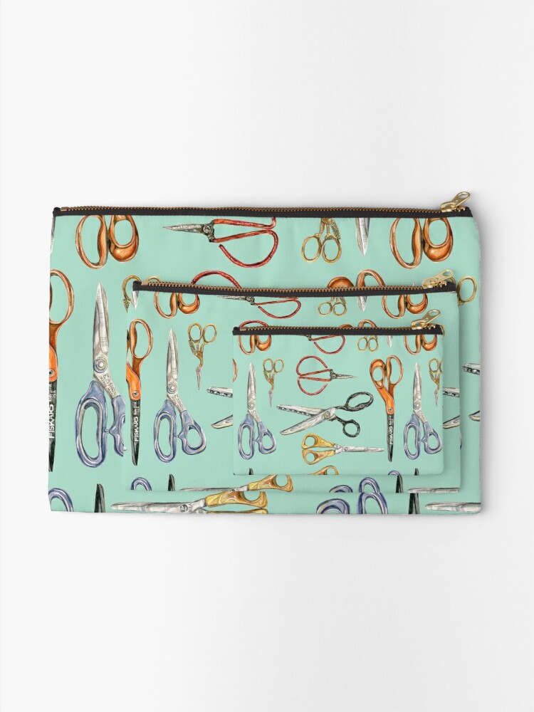 Alternate view of Scissors Collection Zipper Pouch