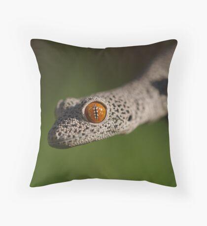 Golden Tailed Gecko Throw Pillow