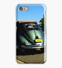 Classic VW Beetle Bug Oval Window Ragtop by Dock iPhone Case/Skin