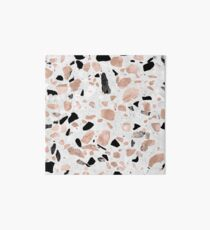 Classy rose gold vintage marble abstract terrazzo design Art Board