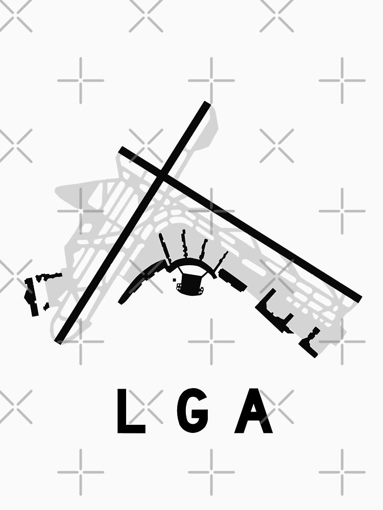 Laguardia Airport Diagram Unisex T Shirt By Vidicious