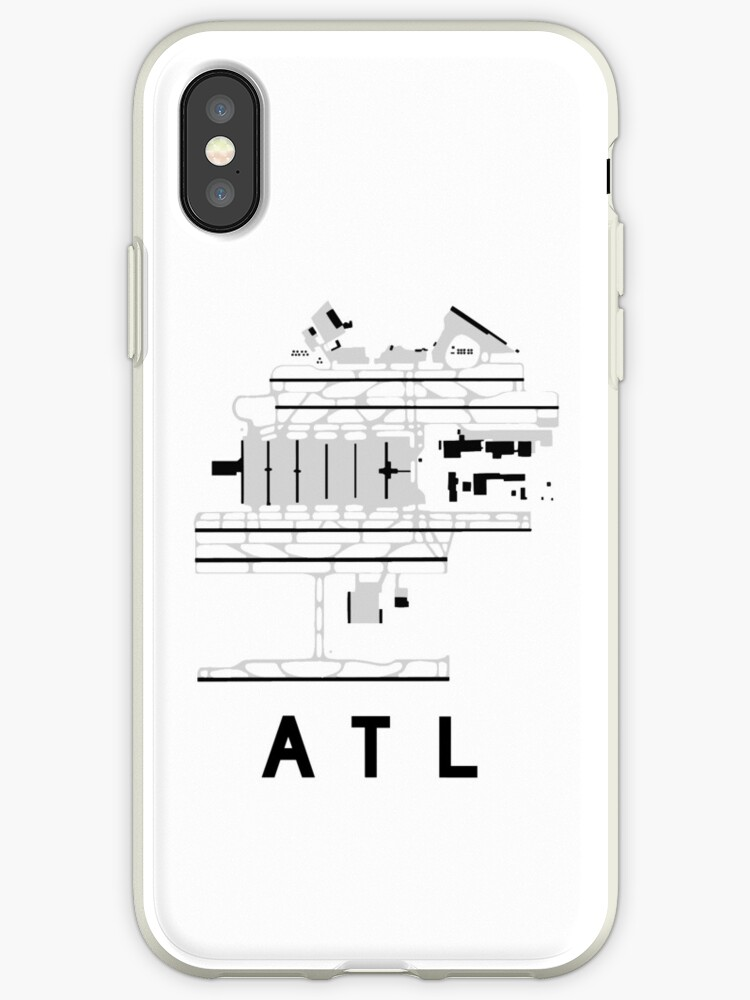 Atlanta Hartsfield Airport Diagram Iphone Cases Covers By