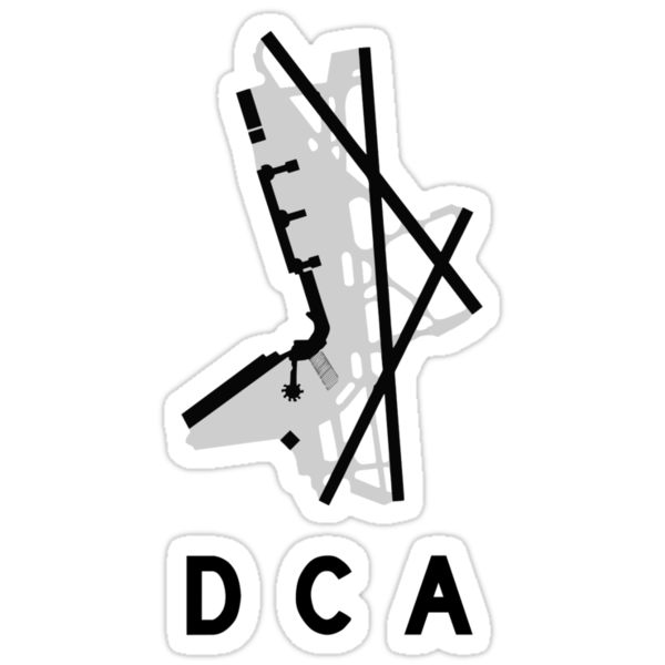 Washington National Airport Diagram Stickers By Vidicious