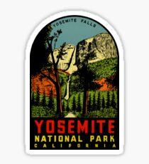 Yosemite Falls National Park Vintage Travel Decal Sticker