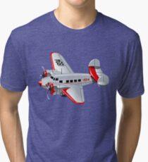 Cartoon Retro Airplane Tri-blend T-Shirt