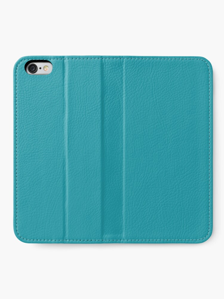 Alternative Ansicht von Teal / Light Sea Green einfarbig iPhone Flip-Case
